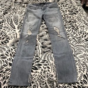 J Brand distressed jeans light wash